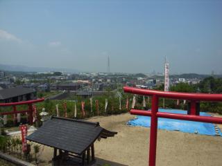 丸山稲荷神社から見た山口町
