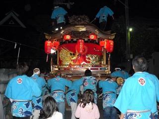 平成21年秋祭だんじり宵宮2